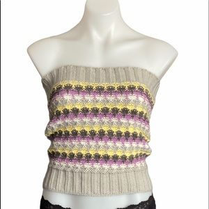 BCBGeneration MULTICOLOR STRIPED TUBE TOP NWT M